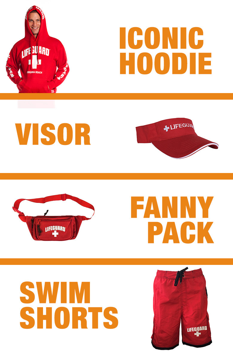 Guys Warm Weather Halloween Costume | Beach Lifeguard Apparel Online Store  sc 1 th 276 & Guys Lifeguard Hoodie u0026 Board Shorts Halloween Package