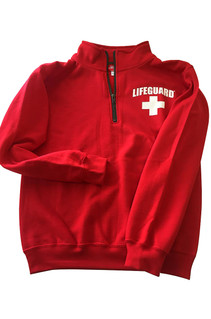Red Quarter Zip Pullover | Beach Lifeguard Apparel Online Store
