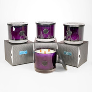 Amethyst Gramercy Penthouse Triple Wood Wick Collection