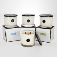 Classic White Gramercy Penthouse  Triple  Wood Wick Collection