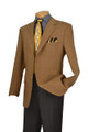 Men's Khaki Wool Windowpane Plaid Sport Coat Blazer