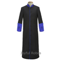 307 M. Men's Clergy/Pastor Robe - Black/Royal