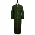 Men's Olive Green & Gold Clergy Robe Cassock - Men's Clergy Attire