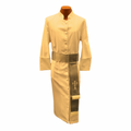 Men's Creme/Silver Clergy Robe Cassock w/ Matching Cincture Set