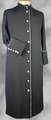 154 W. Women's Clergy/Pastor Robe Black/Grey