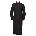 Women's Black and Burgundy Clergy Robe - Ladies Clergy Robes