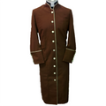 Ladies Clergy Robes in Brown & Creme Cassocks for Women