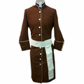 Ladies Clergy Robes with Matching Cincture - Brown/Creme