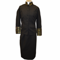 Ladies Clergy Suit in Black & Gold Brocade - Women's Clerical Suits