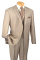 Men's Dual-Panel Lapel Fashion 3 Pc. Suit Beige