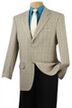 Men's 100% Wool Check Sport Coat Beige