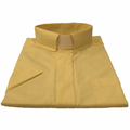 Men's Short-Sleeve Tab-Collar Clergy Shirt - Banana/Yellow