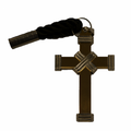 Clergy Cross Pendant - X Cross Design - Silver & Gold