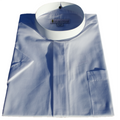 Men's Short-Sleeve Full-Collar Banded Clergy Shirt - White Clergy Shirts