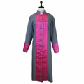 Women's Premium Gray/Rose Pink Premium Clergy Robe - Ladies Clergy Robes
