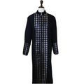 Men's Premium Black/Silver Clergy Robe with Brocade - Men's Clergy Robes