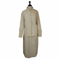 Ladies Clergy Suit in Creme & Gold Brocade - Women's Clerical Suits