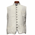 Classic Clergy Vest in Ivory Creme/Off-White with Black Trimming & Buttons