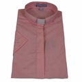 Ladies Pink Short-Sleeve Tab Collar Clergy Shirts - Women's Clergy Shirts