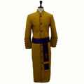 Men's Gold/Purple Clergy Robes with Purple/Gold Matching Cincture