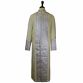 Men's Premium Ivory/Creme Clergy Robe with Brocade - Men's Clergy Robes