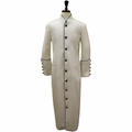 Men's Ivory & Black Clergy Robe Cassock - Men's Clergy Attire