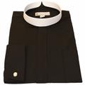 Men's Long-Sleeve Black Banded Full Collar Clergy Shirt