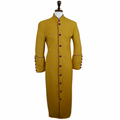 Men's Gold & Purple Clergy Robe Cassock - Men's Clergy Attire
