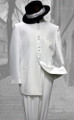 White Mandarin Nehru Collar Clergy Suit