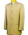 Beige/Taupe Mandarin Nehru Collar Clergy Suit