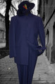 Navy Blue Mandarin Nehru Collar Clergy Suit
