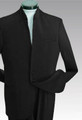Black Open Collar Clergy Suit - 2 Button