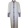 White and Lavender Purple Premium Clergy Robe Cassock