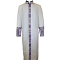 White and Lavender Purple Premium Clergy Robe Cassock