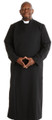 Black Anglican Cassock Double Breast Robe
