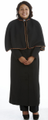 191 W. Women's Black Pastor/Clergy Robe With Cape