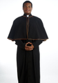Black Clergy Robe with Clerical Shoulder Cape
