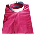 Women's Short-Sleeve Banded/Full-Collar Clergy Shirt - Fuchsia - Ladies Clergy Shirts
