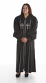 930 P. Men's & Women's Clergy Robe - Black/White