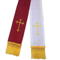 Gold/Red Clergy Stole OR White/Gold Clergy Stole, Reversible Clergy Stole in White, Gold, & Red