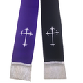 Black/White Clergy Stole OR Purple/White Clergy Stole, Reversible Clergy Stole in White, Black, & Purple