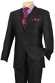 Fancy Formal Fashion Suit 5 Pc. Suit Black/Purple