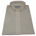 Women's Short-Sleeve Tab Collar Clergy Shirts - White