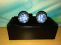 *2 Pc. Exquisite Fabric Cufflinks - Blue