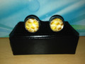 *2 Pc. Exquisite Fabric Cufflinks - Gold