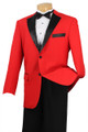 Men's Premium and Unique 2-Button Tuxedo - Red and Black