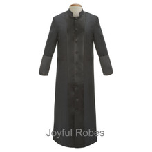 Men's Black/Black Satin Clergy Robes