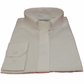 Women's Long-Sleeve Tab-Collar Clergy Shirt - White