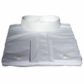 Men's Full-Collar Banded Clergy Shirt - White Clergy Shirts