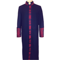 Black and Red Premium Clergy Robe Cassock